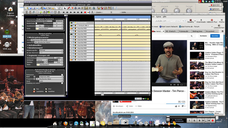 Desktop mit Musik